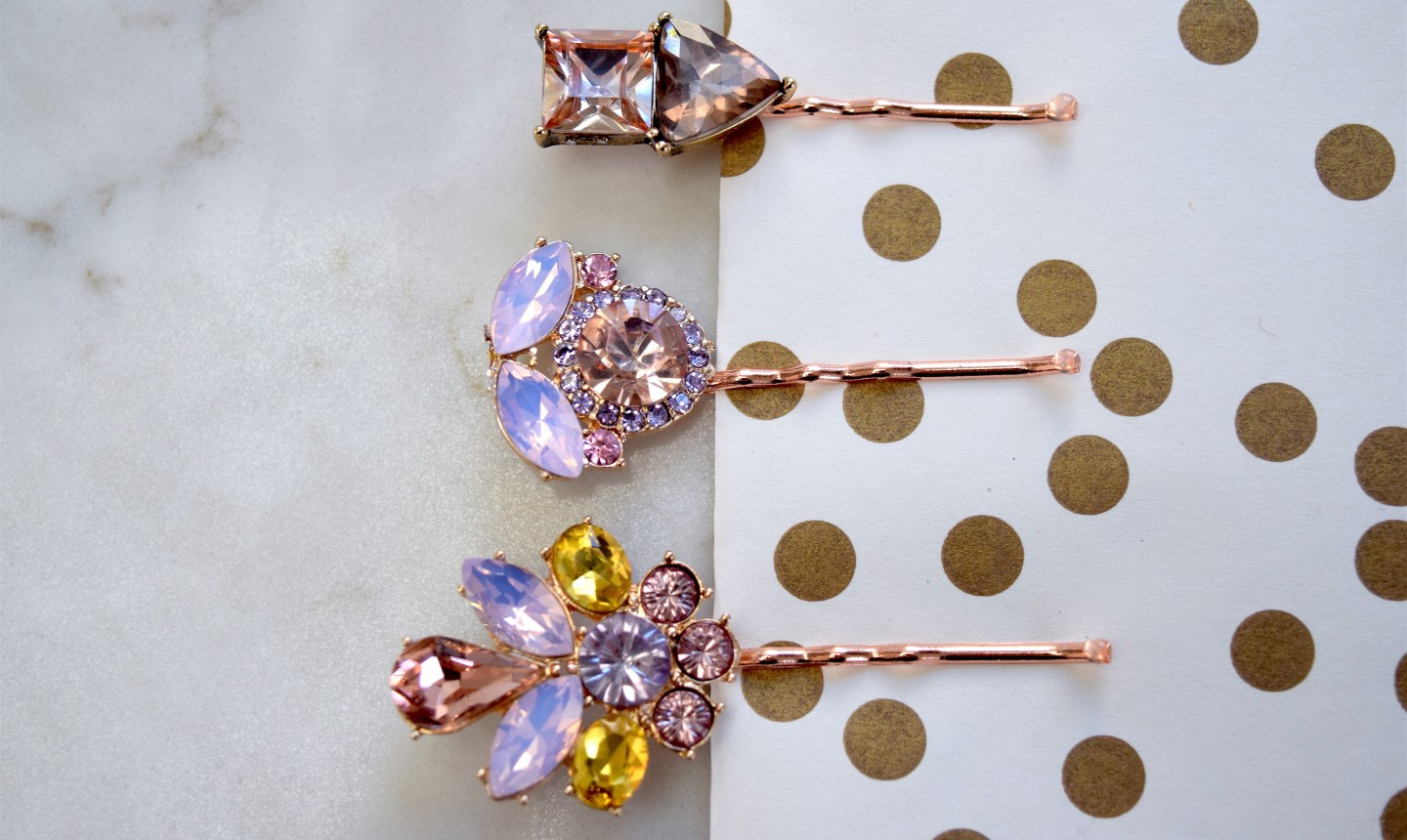 jeweled barrettes