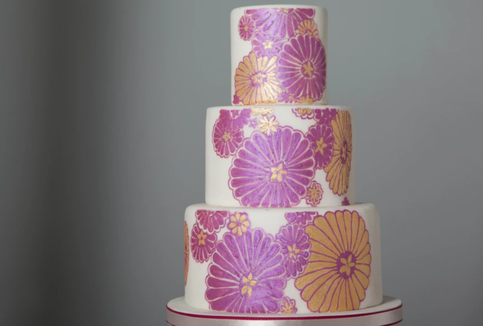 painted flower cake