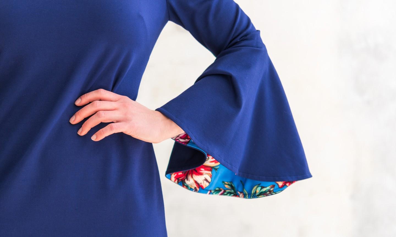 detail of flirty dress sleeve