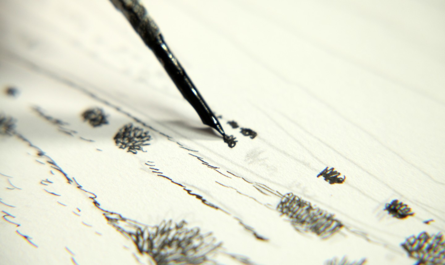 drawing pen and ink