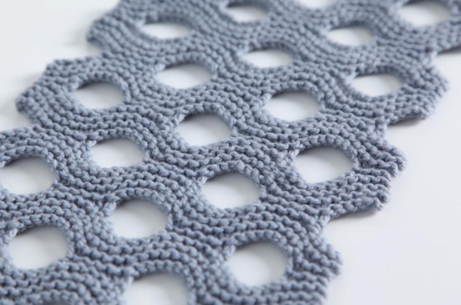 lattice knit scarf