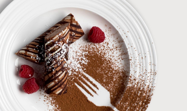 mini chocolate rolls on plate