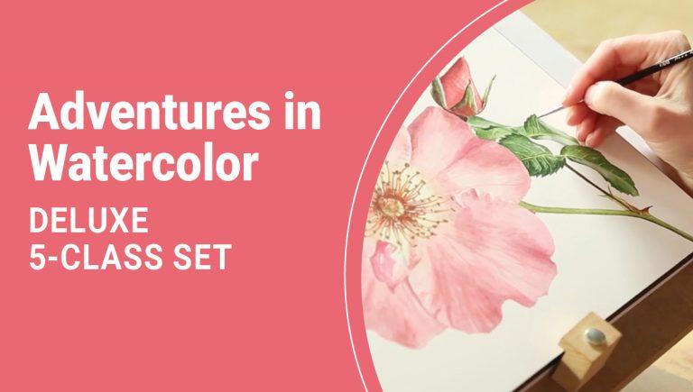 Adventures in Watercolor Deluxe 5-Class Set