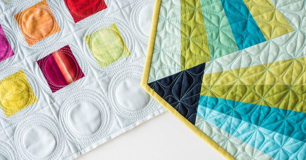 Colorful quilt corners