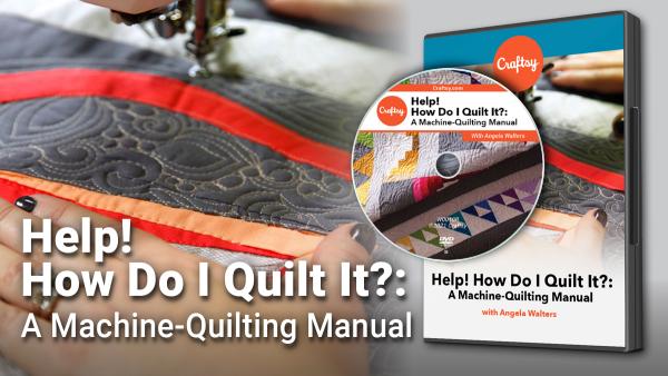 Craftsy Machine Quilting Manual DVD