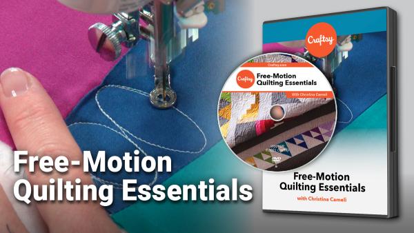 Craftsy Free Motion Quilting Essentials DVD