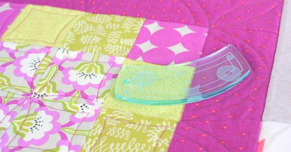 Pink flower quilt squares