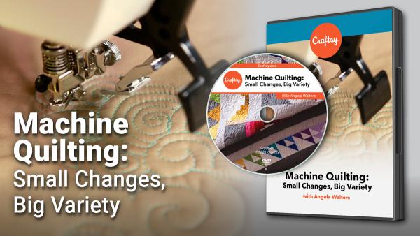Craftsy Machine Quilting DVD