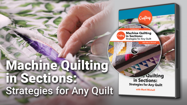 Craftsy Machine Quilting in Sections DVD