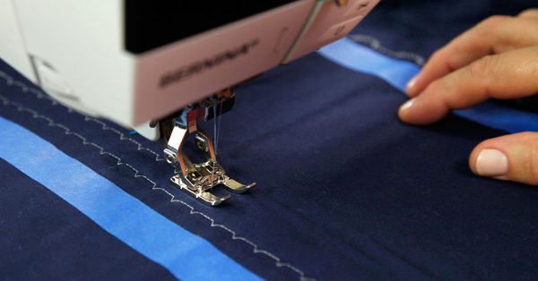 Embroidering with walking foot