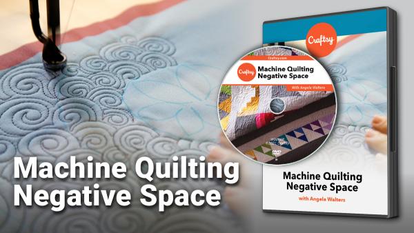 Craftsy Machine Quilting Negative Space DVD