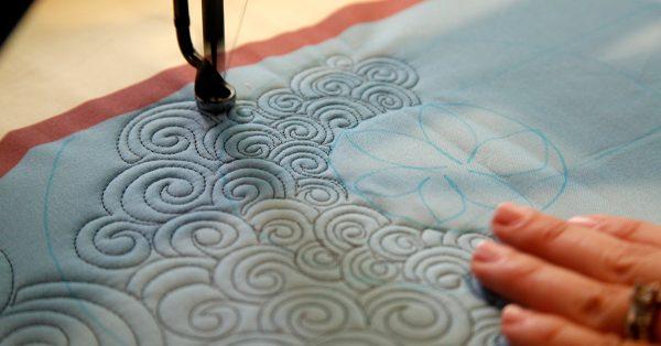 Quilting swirl patterns