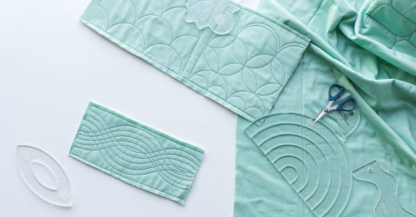 Quilted fabric rectangle