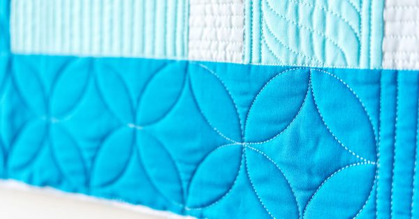 Blue quilted designs