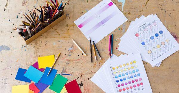 Colored pencil coloring mixes