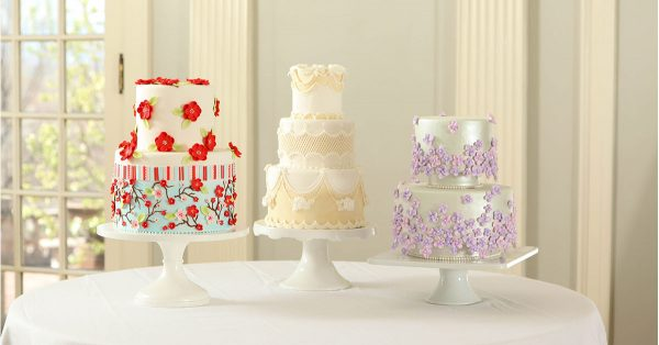 Three different decorated cakes