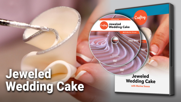 Craftsy Jeweled Wedding Cake DVD