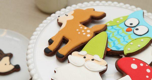 Woodland decorate cookies