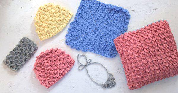 Crochet crocodile stitch items