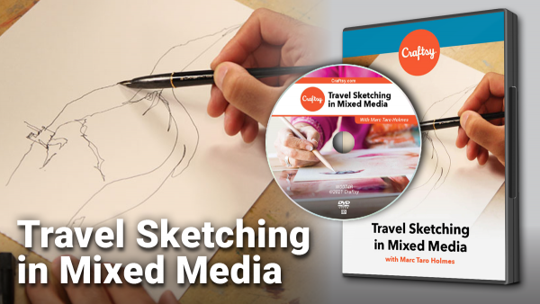Craftsy Travel Sketching in Mixed Media DVD