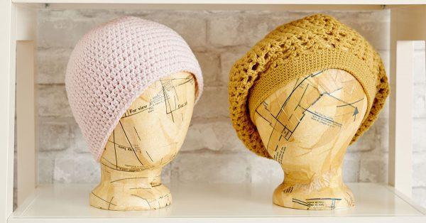 Two crochet hats
