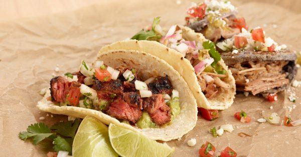 Three different tacos