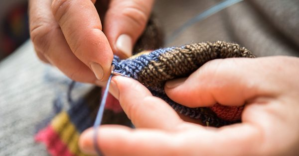 Knitting with small needles