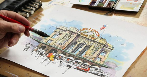 Sketching Union Station