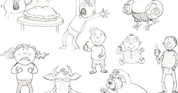 Book character drawings