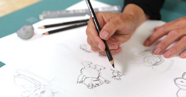 Sketching cartoon animals