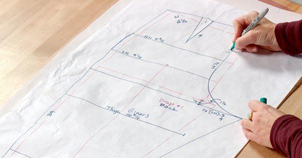 Drawing a pattern draft