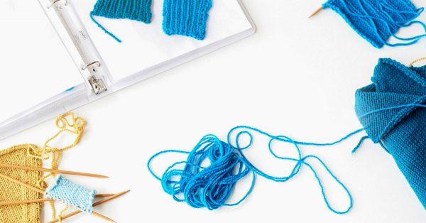 Blue yarn unraveling