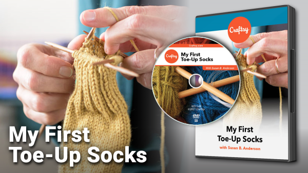 Craftsy My First Toe-Up Socks DVD