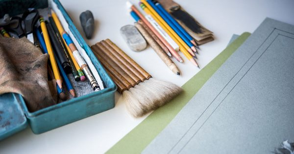 Pencil box and extra supplies