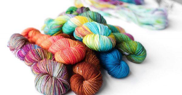 Pile of dyed yarn