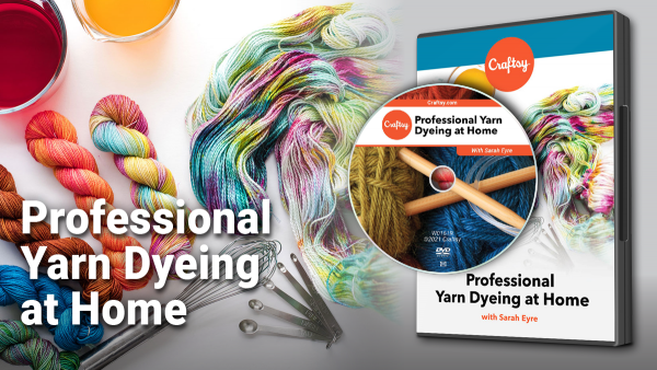 Craftsy Professional Yarn Dyeing at Home DVD