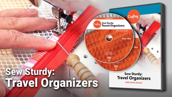 Craftsy Sew Sturdy Travel Organizers DVD