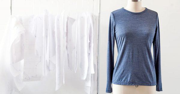 Long sleeve shirt on a form