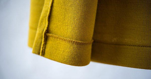 Hem of a fabric jacket