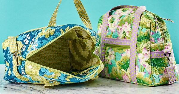 Colorful zipper travel bag