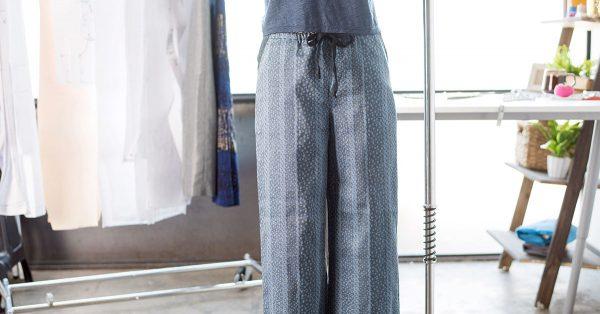 Pajama pants on a form