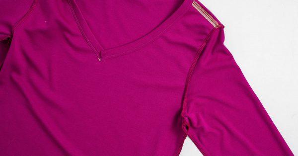 Sleeve of a purple shirt