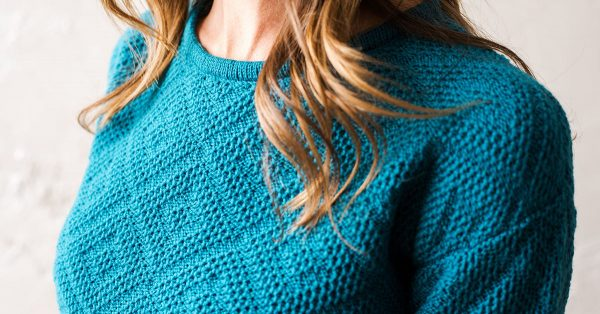 Teal knit sweater