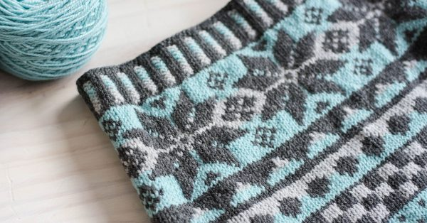 Fair isle type pattern knitting