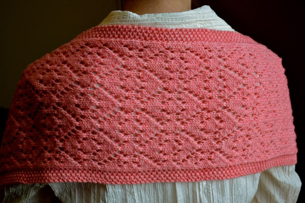 In Love with Escher Knit Shawl pattern