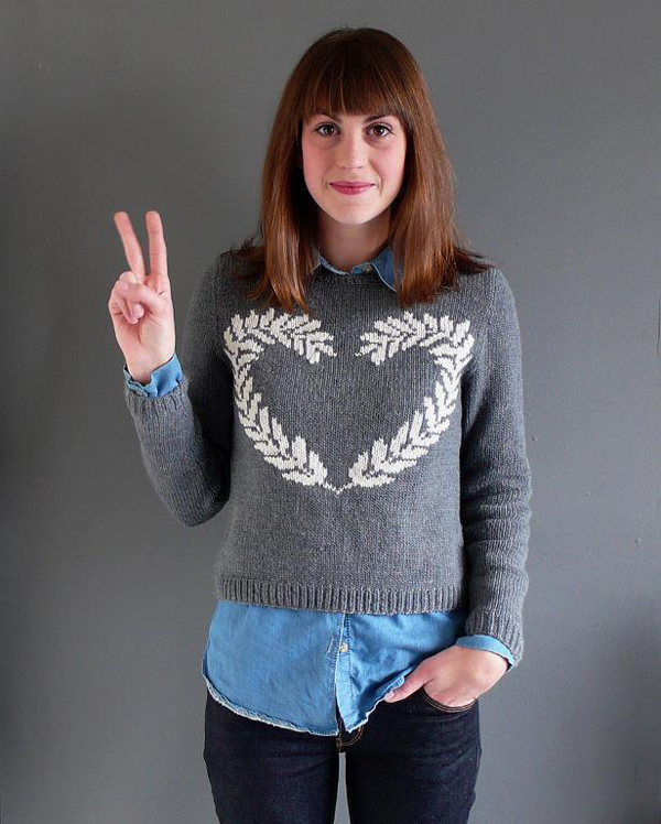 Peace and Love Sweater knit pattern