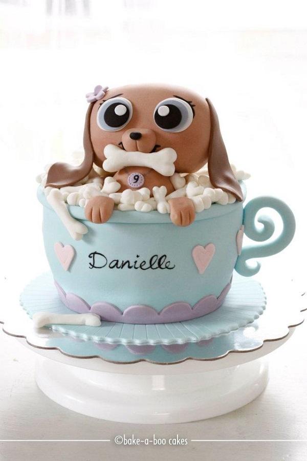 Cute Puppy Dog Cake