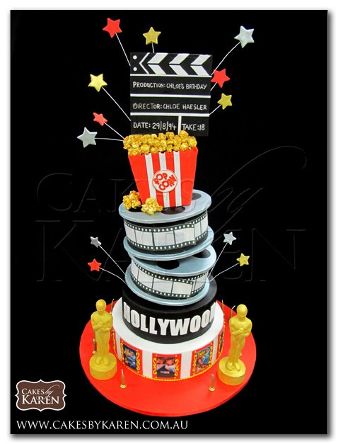 Hollywood-Themed Cake