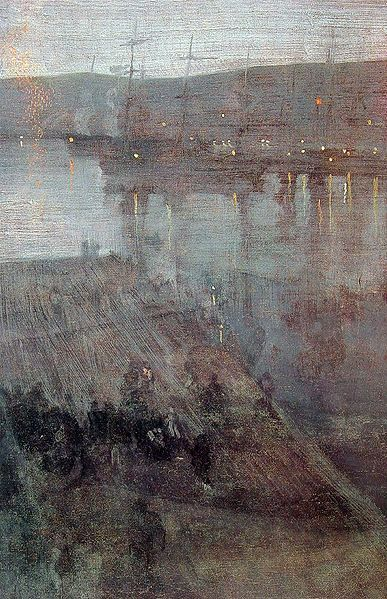 """""""Nocturne in Blue and Gold Valparaiso Bay,"""" by James Whistler"""