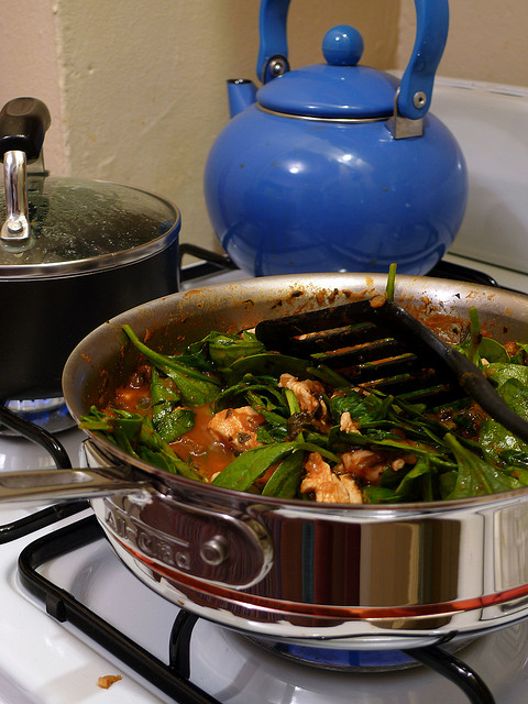 Sautéing Vegetables in Pan